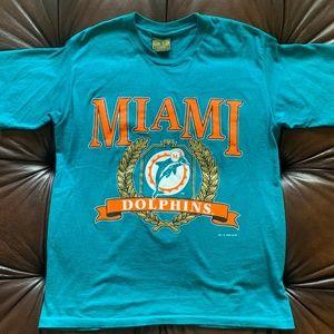 Vintage 1993 Miami Dolphins NFL T-Shirt (L)